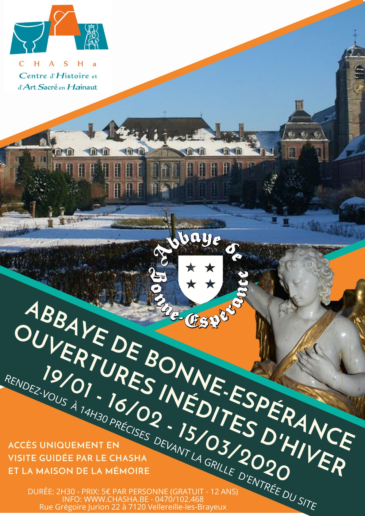 L'Abbaye de Bonne-Espérance et le CHASHa sortent de leur sommeil hivernal : 3 rendez-vous inédits à ne pas manquer !