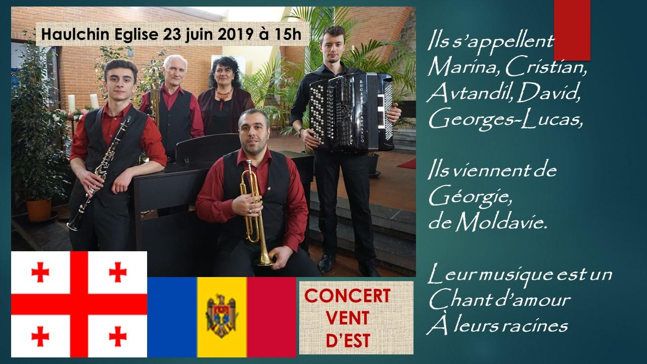 Concert Vent d'Est à l'église d'Haulchin