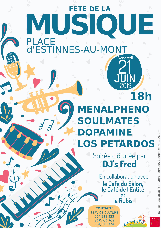 Fête de la musique à Estinnes-au-Mont le 21 juin 2019