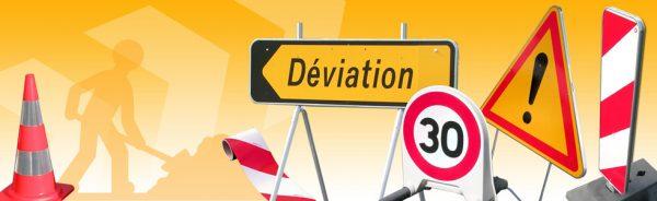 Signalisation et déviation - Chantier de réfection de la rue de Bray