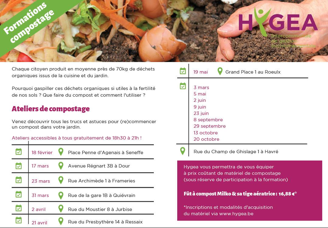 Sensibilisation à la réduction des déchets – Formations Guide Composteur et ateliers de compostage à destination des particuliers