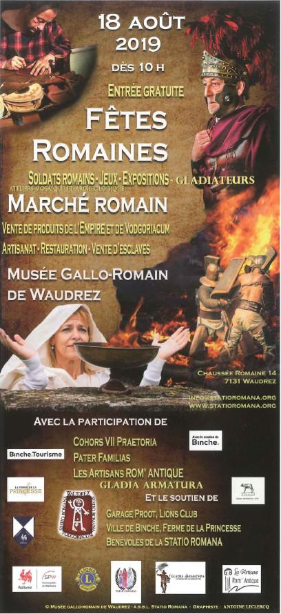 Fêtes Romaines au Musée Gallo-Romain de Waudrez
