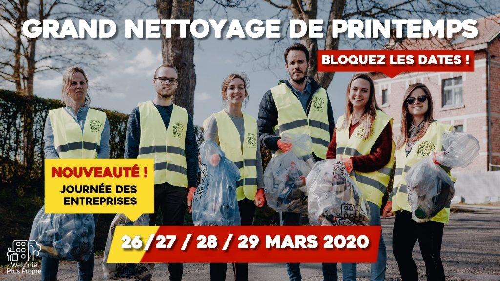 Grand Nettoyage de Printemps – Edition 2020 – Les 26, 27, 28 et 29 mars 2020