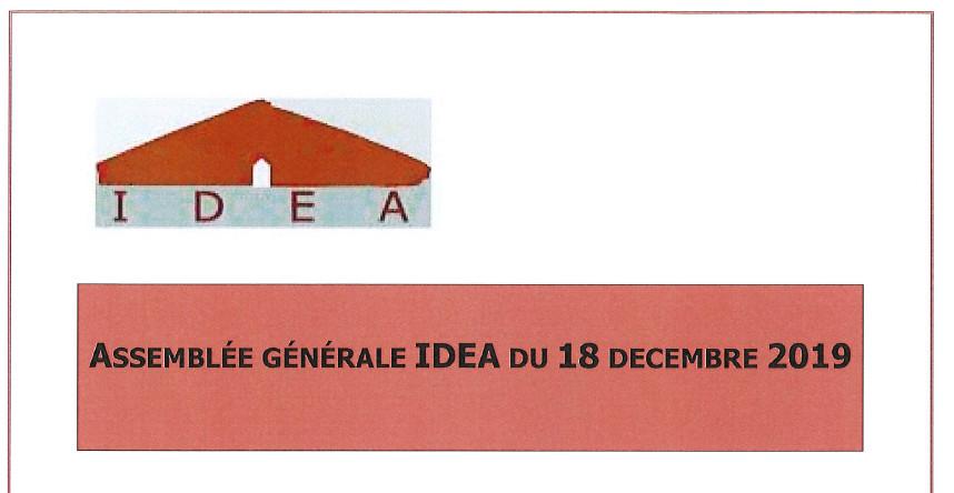 Assemblée générale IDEA du 18 décembre 2019