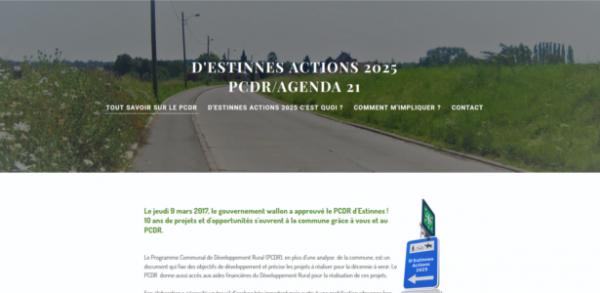 Le site internet du PCDR d'Estinnes