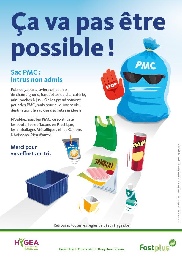 Aidez-nous à éliminer les intrus du sac PMC!
