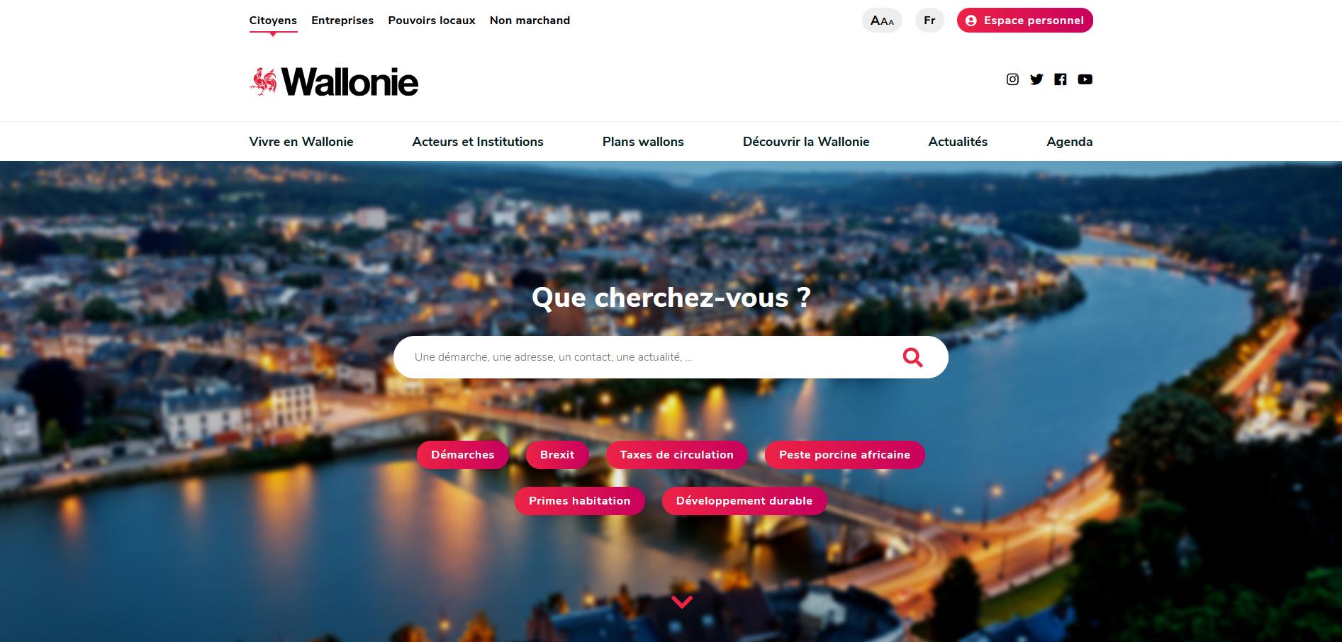 Nouvelle version du portail de la Wallonie