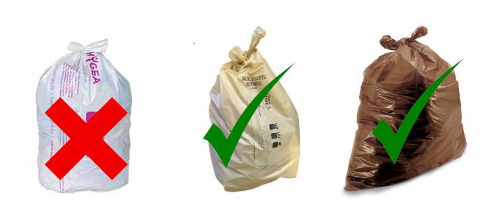 Sacs poubelle non conformes – Rappel