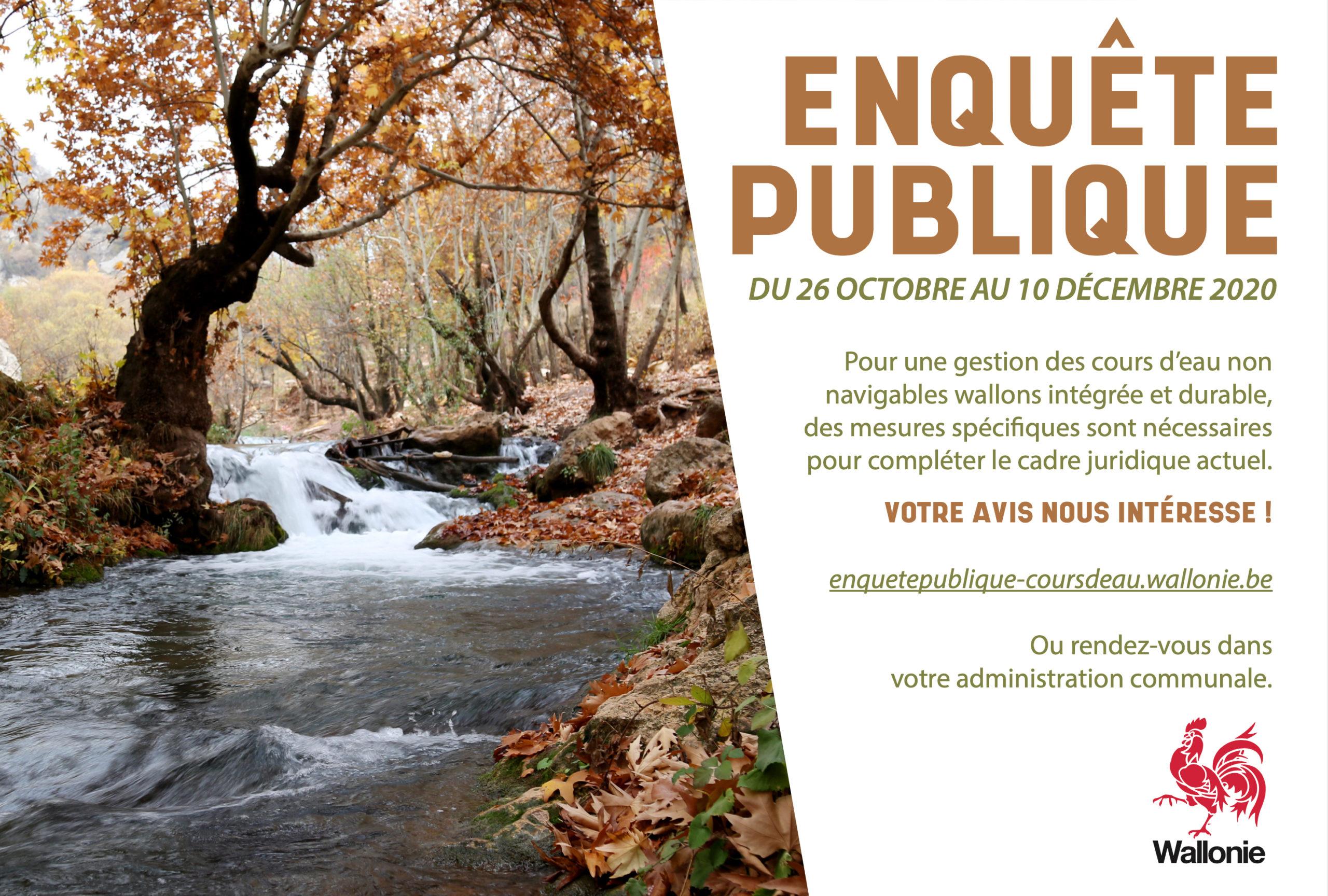 Enquête publique – Cours d'eau