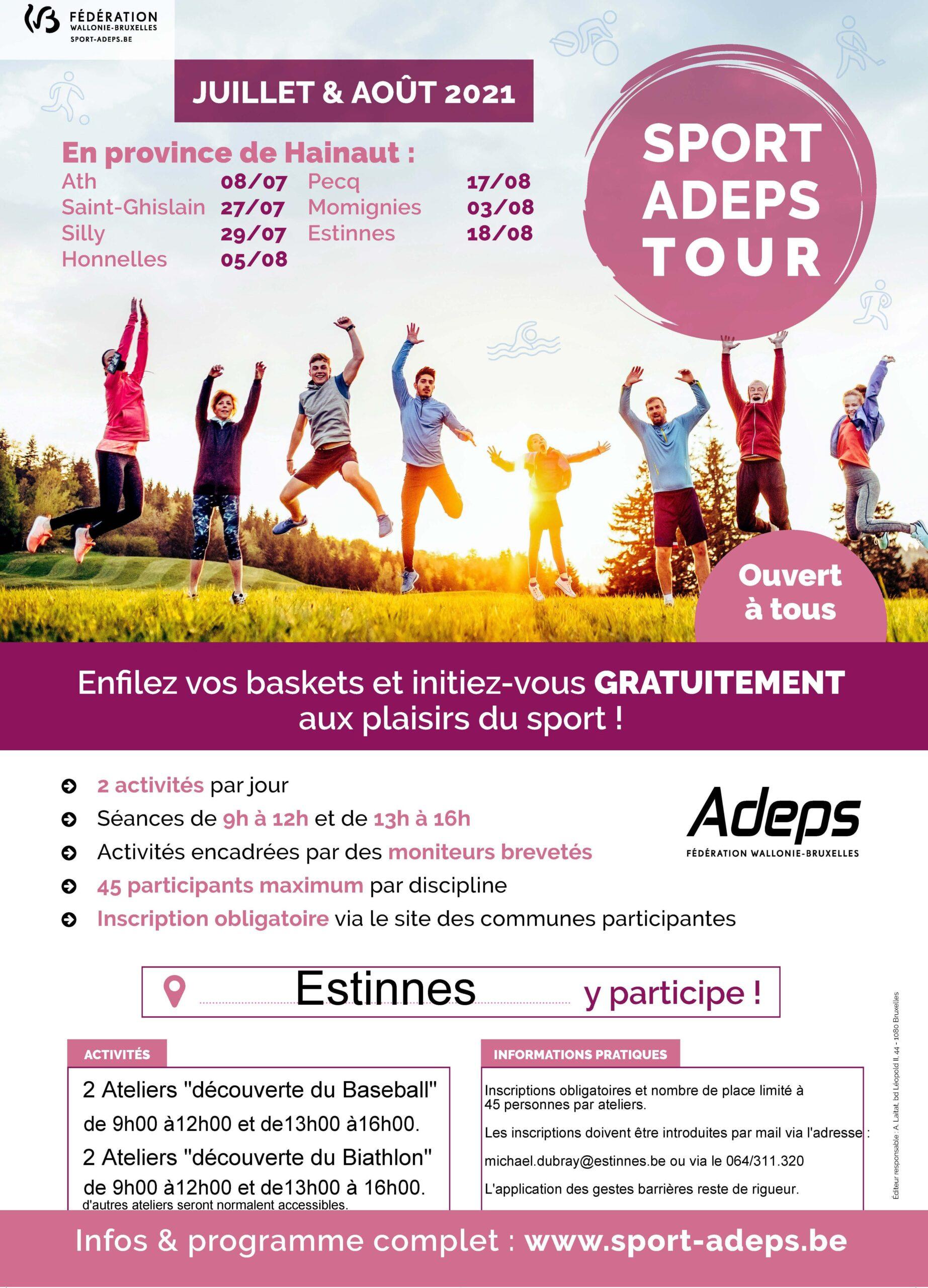 Sport Adeps Tour – Un été sportif avec l'Adeps dans nos communes