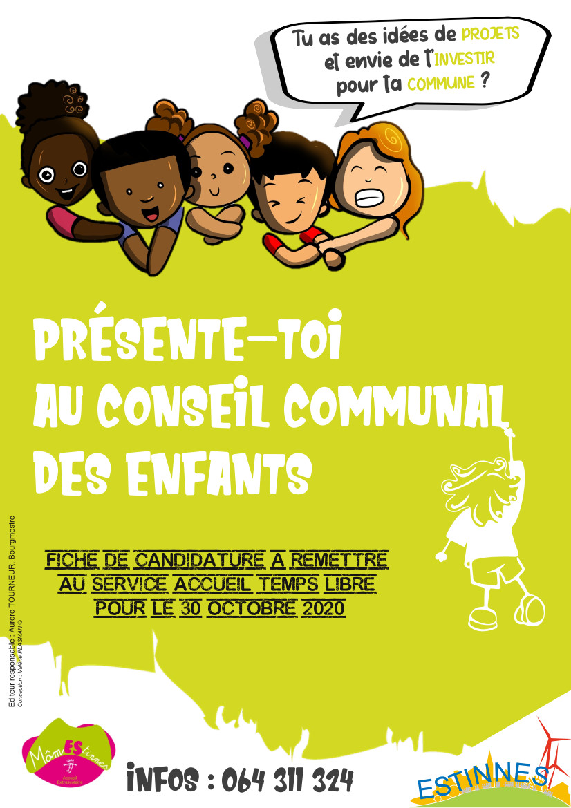 Présente-toi au Conseil Communal des Enfants