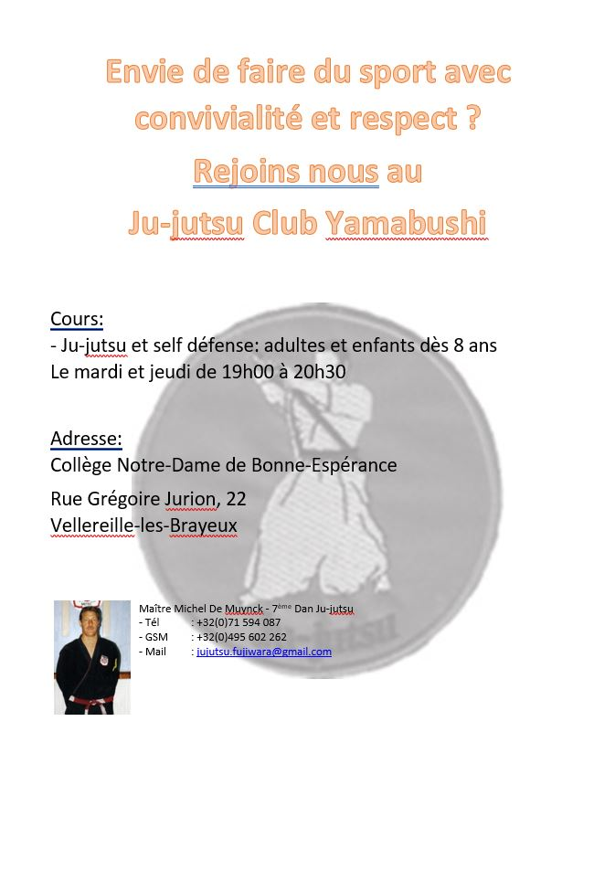 Cours de Ju-jutsu au Collège Notre-Dame de Bonne-Espérance