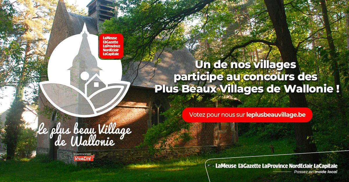 Concours : Élisez le plus beau village de Wallonie : Estinnes-au-Val parmi les 60 villages sélectionnés !