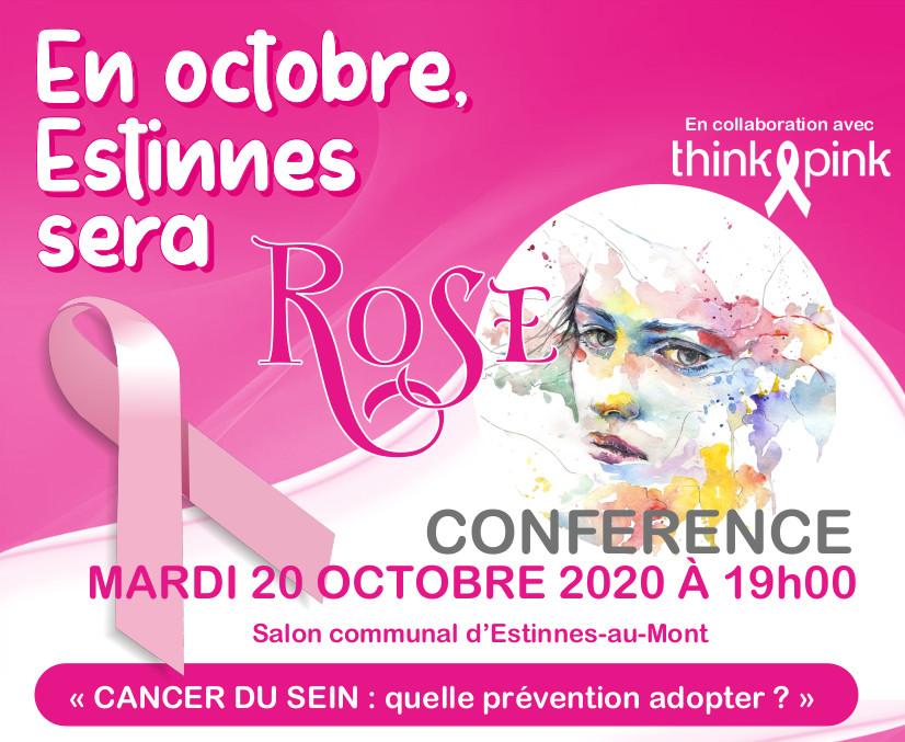 """Conférence annulée """"Cancer du sein : quelle prévention adopter ?"""""""
