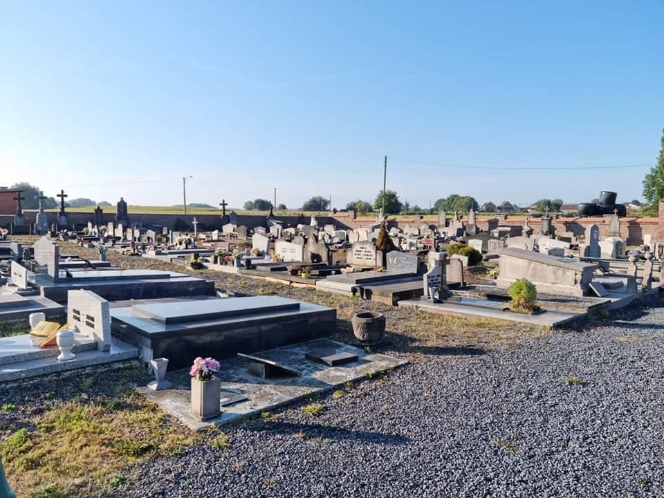 Entretien cimetières d'Haulchin, Rouveroy et Estinnes-au-Mont
