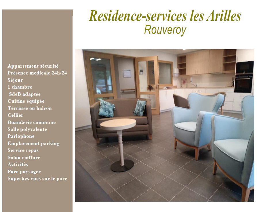 Residence-services les Arilles Rouveroy